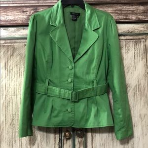 "Sandro Cotton Peplum Jacket w/2"" Belt"